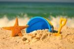 игрушки в песке