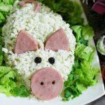 Салат Свинья на Новый год