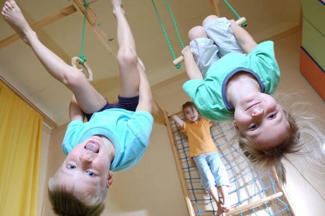 Дети на спортивном комплексе